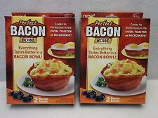 Two (2) Sets of Bacon Bowl Makers - As Seen on TV - Acrylic - Black