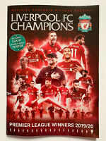 **LIVERPOOL FC CHAMPIONS OFFICIAL SOUVENIR MAGAZINE JUNE 2020 INCLUDES POSTER**