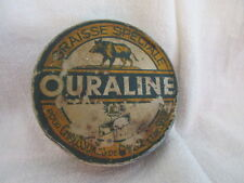 Antique Metal Tin Ouraline Graisse Speciale French Boar/Pig Vtg Grease Lotion?