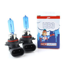 2x HB3 100w Super White Xenon Upgrade HID High Main Full Beam Headlight Bulbs