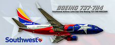 Southwest Airlines Boeing 737 Lone Star Colors Photo Magnet (PMT1625)