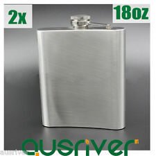 2x Brand New 18oz Stainless Steel Hip Flask Pocket Liquor Whiskey Alcohol Bottle