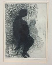 "HAROLD ALTMAN ""Passage"" 1958 Etching 20/20 signed New York Central Park Bench"