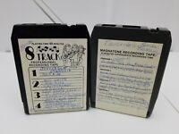 Blank 8 Track Tapes Lot of 2 Recorded Jefferson Starship Spitfire Billy Joel