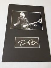 Tom Petty († 2017) signed mapa/estera 20x30 autógrafo rareza!!!