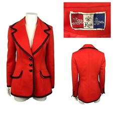 New listing 1970s Lilli Ann Blazer Jacket / Red Designer Button Up Suit Blazer / Small