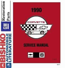 1990 Chevrolet Corvette Shop Service Repair Manual CD Engine Drivetrain Wiring