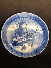 Royal Copenhagen Christmas 1967 The Royal Oak Collector'S Plate