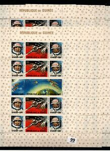 // 10X GUINEA - MNH - SPACE - SPACESHIPS - RUSSIA - ASTRONAUTS - WHOLESALE