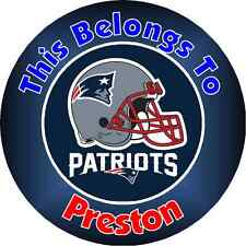 Personalized NEW ENGLAND PATRIOTS Property Stickers name tags School book Labels