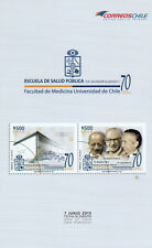 Chile 2013 Brochure - 70 Ann. Public Health University of Chile - no stamps