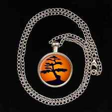 Japanese BONSAI TREE Glass Image Pendant necklace UNIQUE Gardener gift present