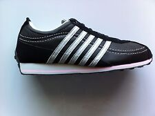 K-SWISS GHENT 91161025 ATHLETIC SHOES  BLACK/SILVER/PINK WOMENS 6.5