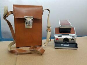 VTG Polaroid SX-70 Instant Folding Land Camera & Leather Case Untested Shelf C4