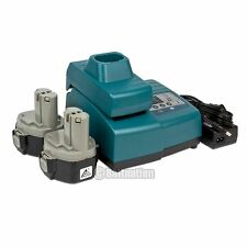 2 14.4V 3.0AH NI-Mh Extended Battery and 1 Charger for Makita 1433 1422