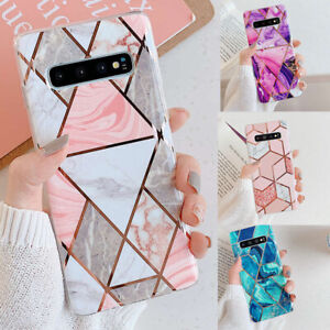 Case For Samsung Galaxy S10 Plus S9 S8 Marble Silicone Shockproof Soft Gel Cover
