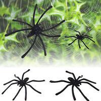 20 x Halloween Plastic Black Spider Joking Toys Decoration Realistic Prop new HS