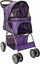 Paws & Pals PTST02PP 4 Wheeler Elite Jogger Pet Stroller for Dogs and Cats