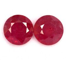 3.42 Cts Natural Ruby Round Cut one pcs 9 mm Red Pink Shade Loose Gemstones GF