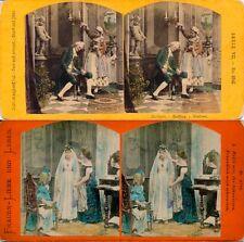 18 colorierte estéreo fotos interesantes genre para 1870 - 1890, lot 9