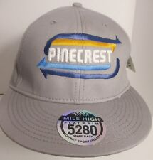 PInecrest Hat Cap Snapback CA California Fishing Lake Resort USA New