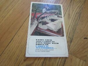 1966 CADILLAC ACCESSSORIES PHAMPHET