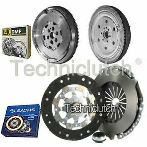 SACHS 3 PART CLUTCH KIT AND LUK DMF FOR CITROEN C5 ESTATE 1.6 HDI