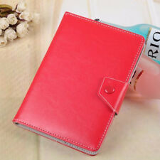 """Universal Leather Folding Folio Case Cover For Android PC 7"""" 8"""" 10"""" Inch Tab Red"""
