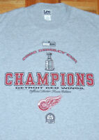 DETROIT RED WINGS T Shirt Stanley Cup Champions NHL Hockey MEDIUM Vintage 2002