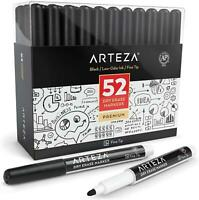 Pack of 52 Dry Erase Markers with Fine Tip Black Color with Low-Odor Ink NEW