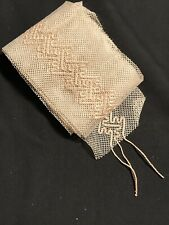 Antique Victorian Edwardian Lace Wide Trim Hand Made Needle Work Ecru 4� X 86�
