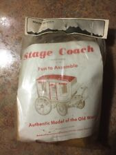 Vintage Stage Coach Fun to Assemble Kit Wells Fargo Western Model sealed in Pack