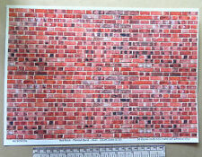 1/12th dolls house red brick self adhesive vinyl - A4 sheet (297x210 mm)
