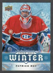 2017-18 UPPER DECK WINTER PATRICK ROY #W4 MONTREAL CANADIENS AVALANCHE