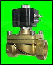 """Magnetventil SVS 1/2"""" Messing 24V DC 0-7bar NC  Wasser Luft Heizung Industrie"""