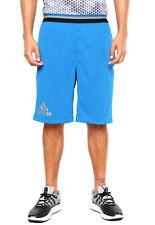 adidas Climachill Men's Workout Shorts Gym Sport Fitness Running Pockets Blue
