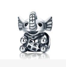 1PCS Elephant Charm Big Hole Beads fit European Silver Bracelet