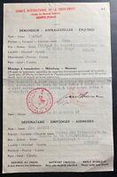 1943 Geneva Switzerland Censored Red Cross Letter Cover To Athens Greece