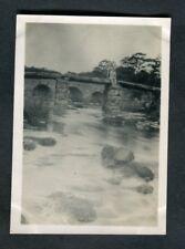 C1920s Original Photo: Man Sitting on a Stone Bridge, Dartmoor