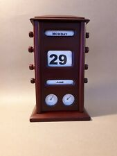 Vintage Rapport Of London Perpetual Roll Desk Calendar Thermometer Hydrometer