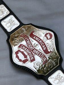 Nwa American Heavyweight Replica Championship Belt,4mm Zinc Plates/24k Nikal.