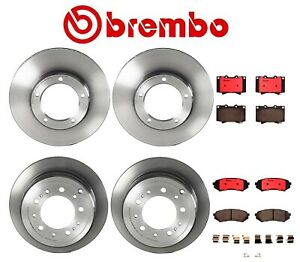 Brembo Front and Rear Brake Kit Disc Rotors Ceramic Pads For Toyota Land Cruiser