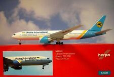 Herpa Wings 1:500 Boeing  777-200  Ukraine International UR-GOA  531122
