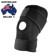 Adjustable Strap Elastic Patella Sports Support Brace Black Neoprene Knee AU