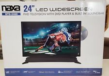 """Naxa Ntd-2460 24"""" Dvd Hd Led Widescreen Tv Built In Sound Bar Pc Input"""