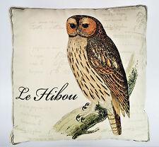 Owl Le Hibou Throw Accent Pillow 17x17