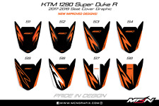 KTM 1290 Superduke R 2014-2019 Passenger Pillion Seat Cover Graphic Decal