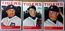 2013 TOPPS HERITAGE HIGH NUMBER DETROIT TIGERS TEAM SET BRUCE RONDON RC 3 CARDS