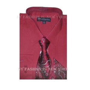 New Men's Dress Shirt w/ Matching Tie and Handkerchief Set  SG-21( B.A)