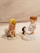 "Lot of 2 Vintage ""Almost Angels"" Franklin Mint Children Figurines,"